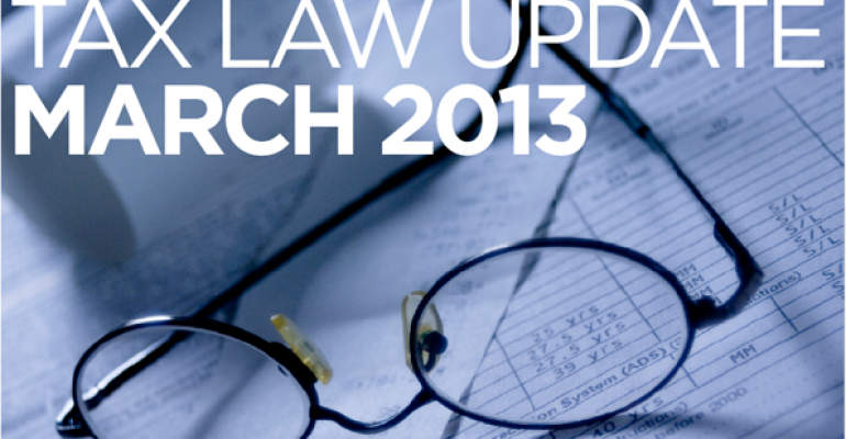 Tax Law Update March 2013