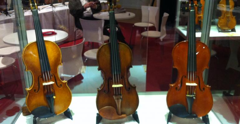 These rare violins shown at the Mondomusica violin show in New York last week are worth millions of dollars