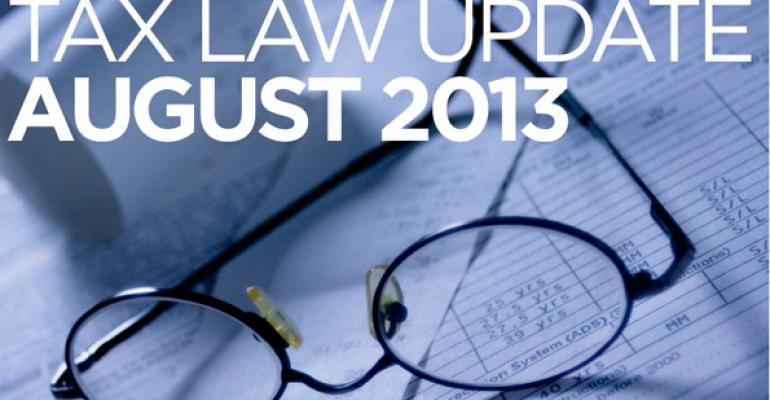 Tax Law Update: August 2013