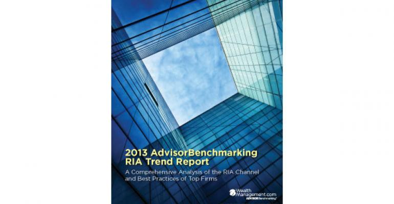 2013 AdvisorBenchmarking RIA Trend Report