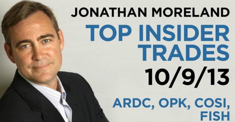 Top Insider Trades 10/9/13: ARDC, OPK, COSI, FISH