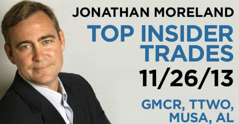 Top Insider Trades 11/26/13: GMCR, TTWO, MUSA, AL