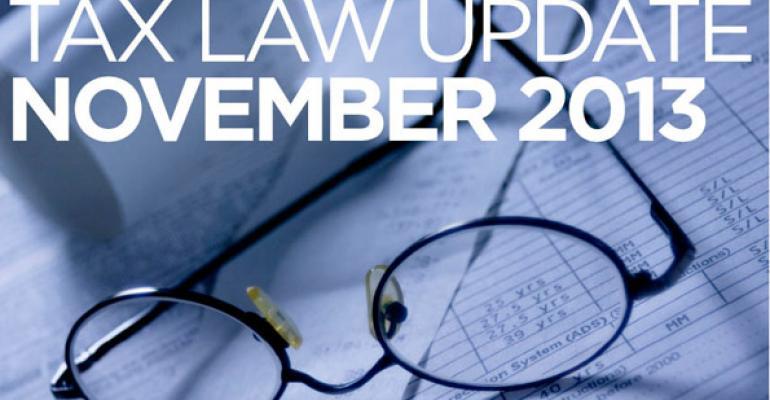 Tax Law Update: November 2013