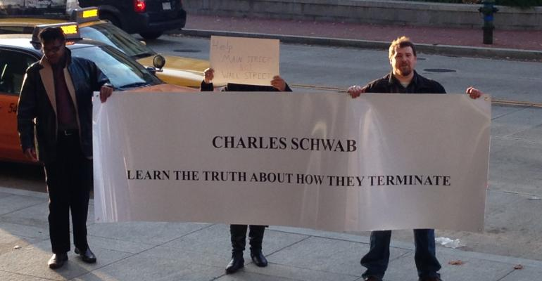 Former Schwab Advisors Protest Termination Policy at IMPACT
