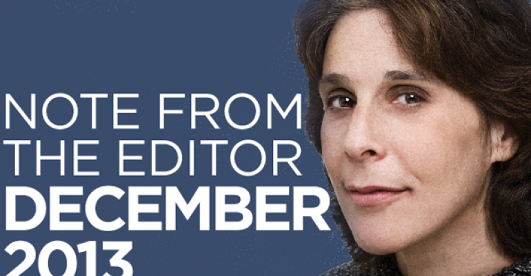 Note From The Editor December 2013