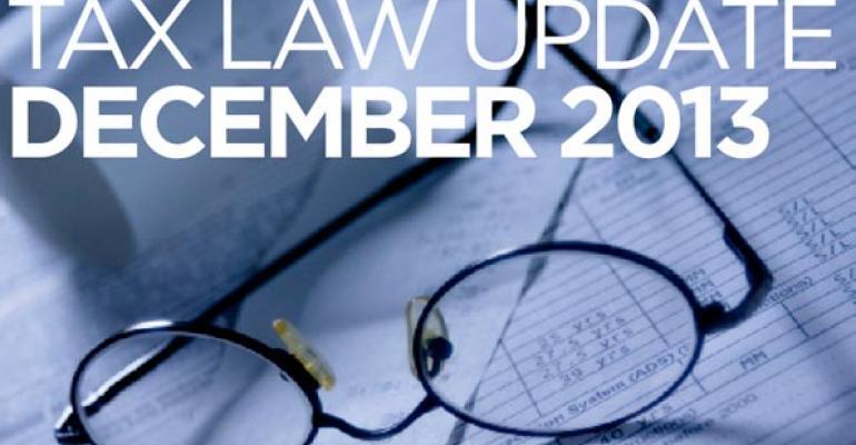 Tax Law Update: December 2013