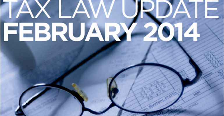 Tax Law Update: February 2014