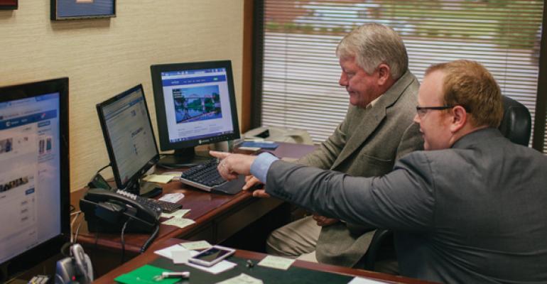 Ken Savells left hired Aldon Taylor who helped him begin using social media