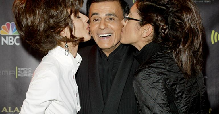 TV and radio legend Casey Kasem center with his daughters Kerry left and Julie right