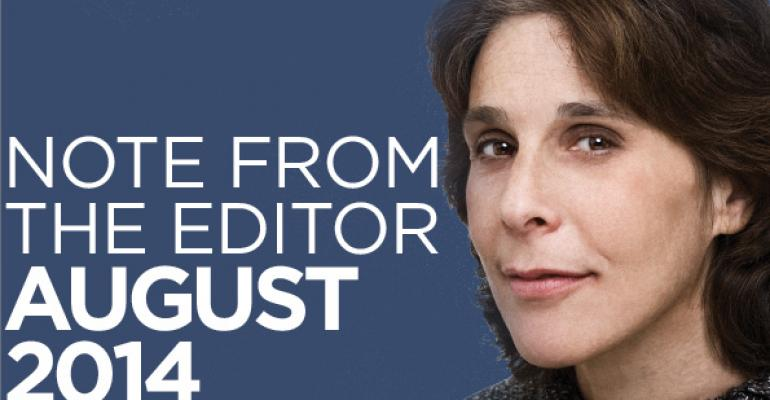 Note From The Editor: August 2014