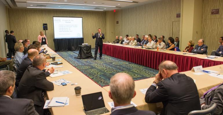 Paul Lally president of Gladstone Associates talks to attendees of FSI39s Advisor Summit