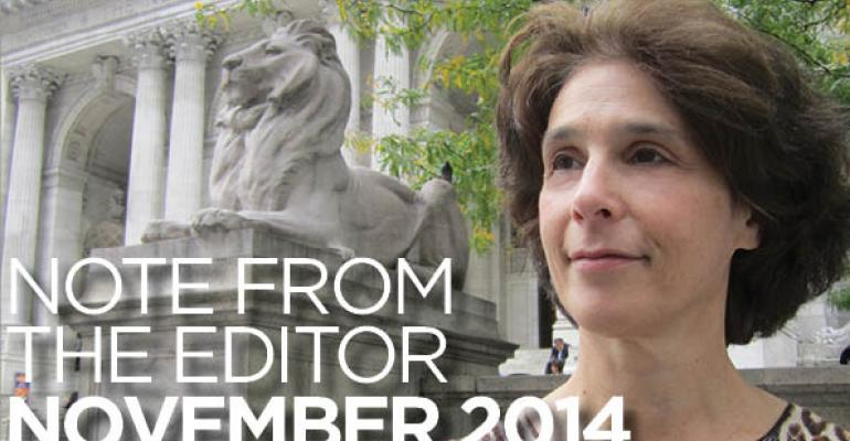 Note From The Editor: November 2014