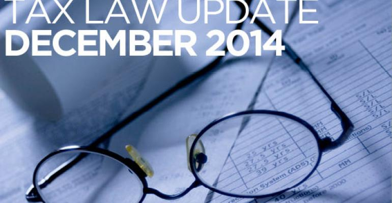 Tax Law Update: December 2014