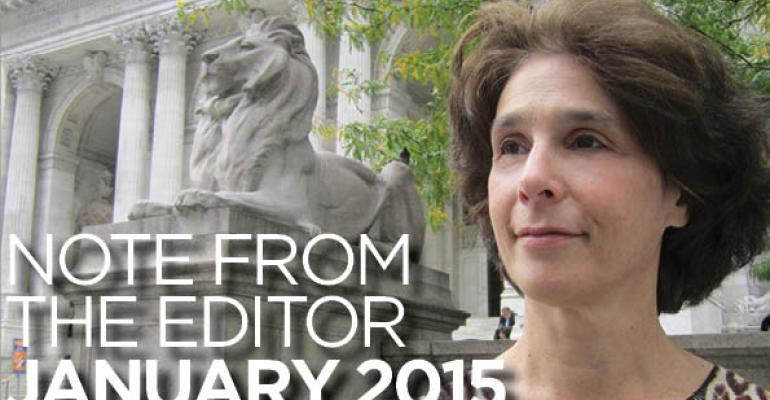 Note From The Editor: January 2015