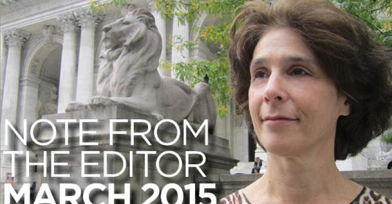 Note From The Editor: March 2015