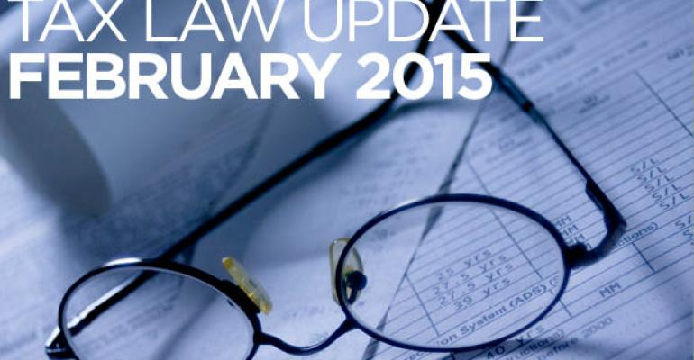 Tax Law Update: March 2015