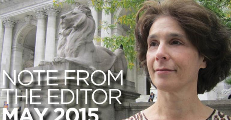 Note From The Editor: May 2015