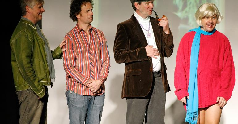 Members of the sketch comedy troupe The Kids in the Hall LR Dave Foley Kevin McDonald Mark McKinney and Bruce McCulloch