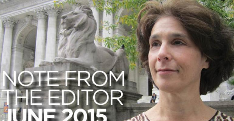 Note From The Editor: June 2015