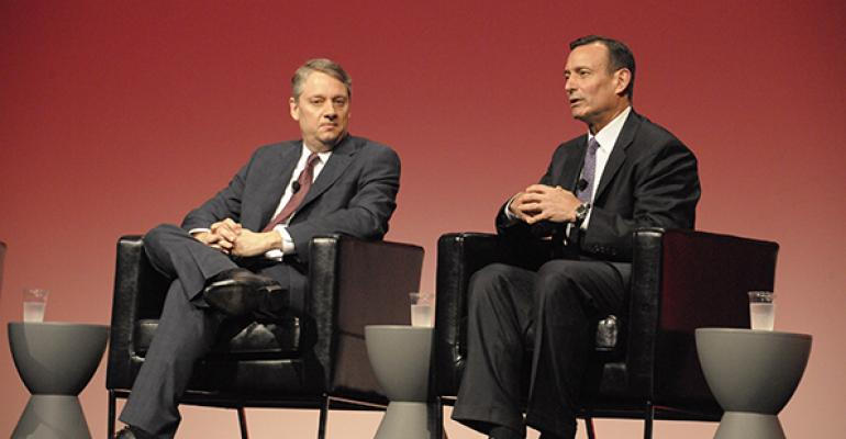 PIMCO CEO Douglas Hodge and Daniel Ivascyn PIMCOrsquos chief investment officer spoke at the Morningstar Investment Conference in Chicago on Friday