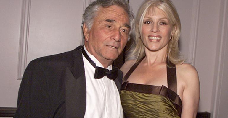 Peter Falk and wife Shera in 2002