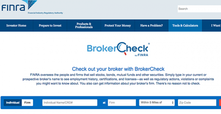 FINRA Marketing BrokerCheck