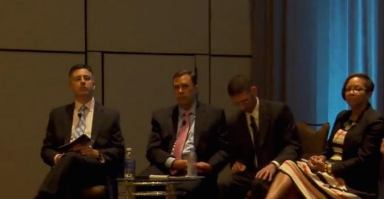 Pershing39s Robert Cirrotti FSI39s David Bellaire Cambridge Investment Reserach39s General Counsel Seth Miller and Pershing39s Tonia Bottoms on a panel Thursday talking about the Labor Department39s fiduciary proposal