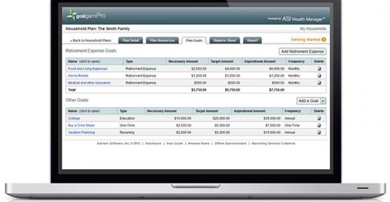 Advisor Software – ASI Wealth Manager – goalgamiPro