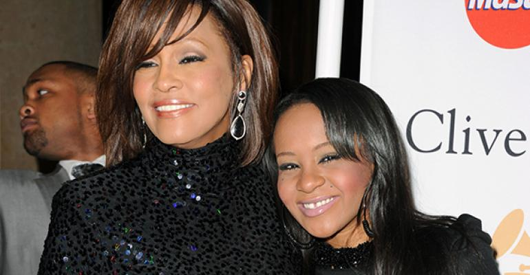 Whitney Houston left the entirety of her estate estimated at 20 million to her daughter Bobbi Kristina