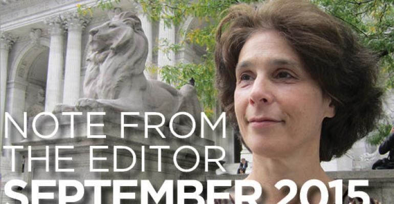 Note From The Editor: September 2015