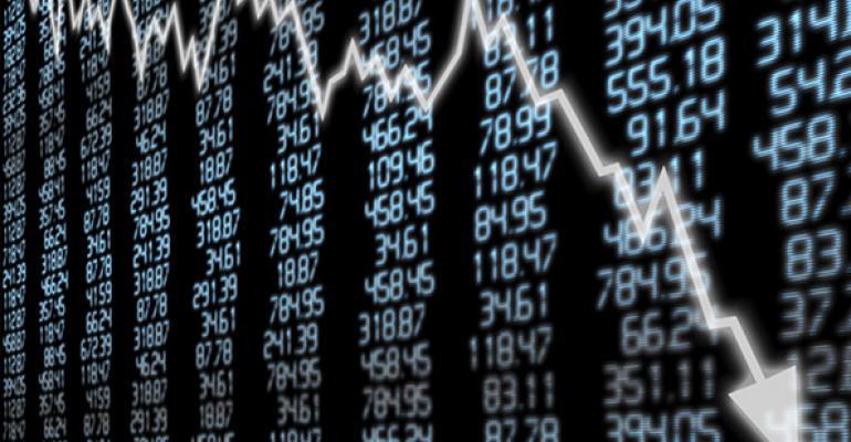stock market prices down