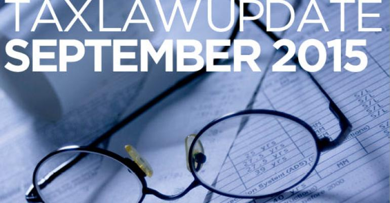 Tax Law Update: September 2015