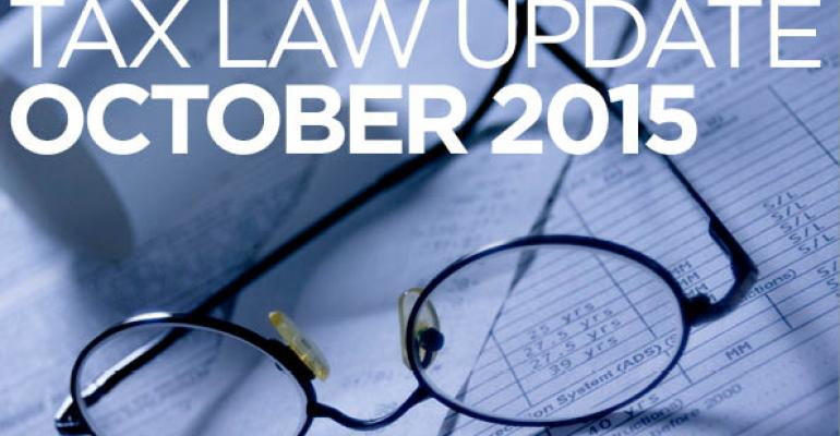 Tax Law Update: October 2015