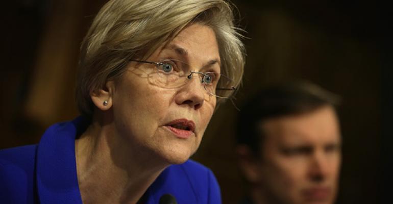 Senator Warren Says Life Insurers Admit To Offering 'Kickbacks'