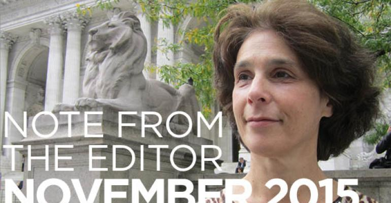 Note From The Editor: November 2015