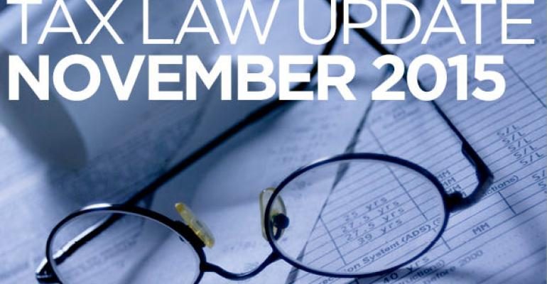 Tax Law Update: November 2015