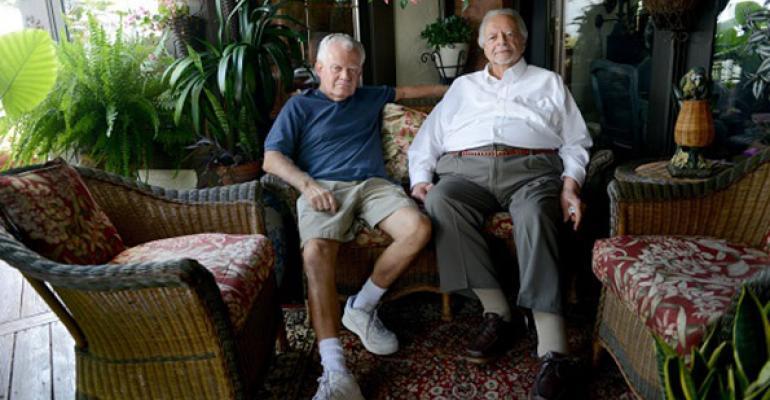 Nino Esposito right and Roland Bosee