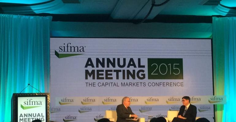 Treasury Secretary Jacob Lew said at the SIFMA annual meeting on Tuesday that he would be opposed to any changes that would undermine the integrity of DoddFrank