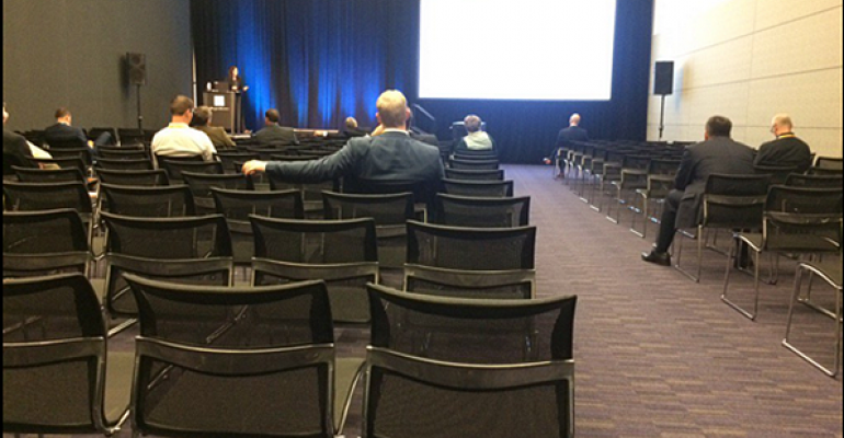 Zoe Knight39s session on climate change at the Schwab IMPACT 2015 conference was sparsely attended