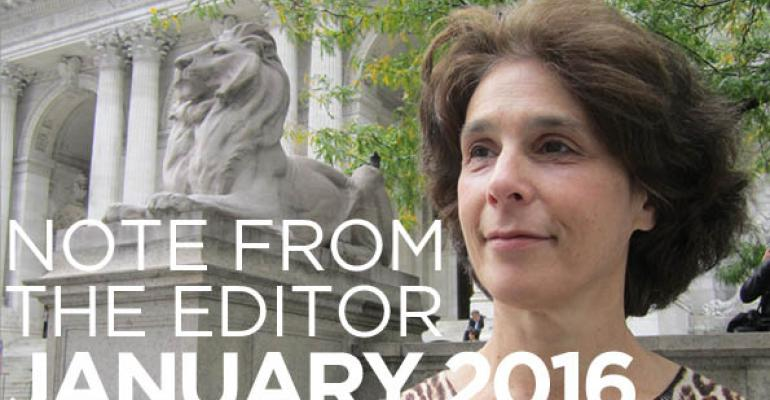 Note From The Editor: January 2016