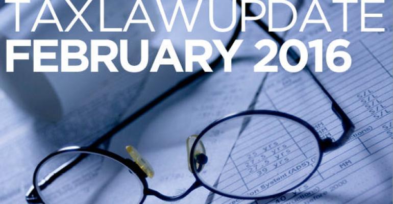 Tax Law Update: February 2016