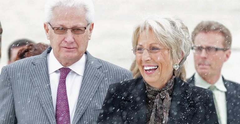 Hobby Lobby cofounders David and Barbara Green