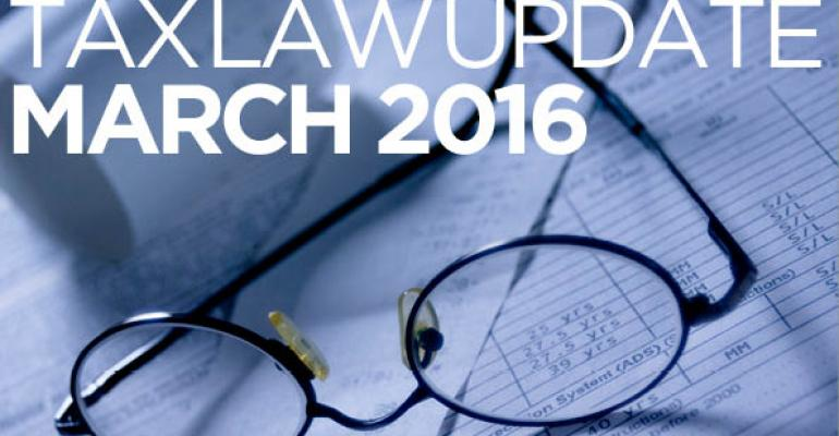 Tax Law Update: March 2016