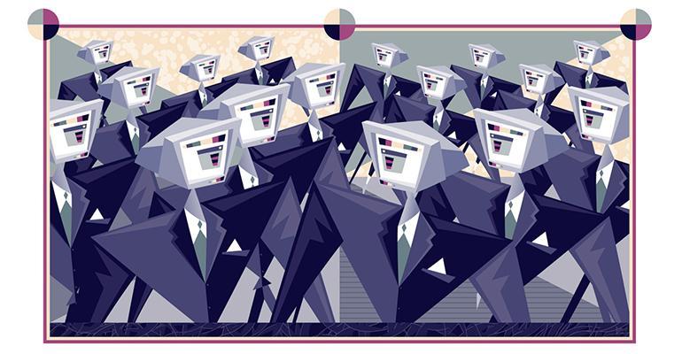 robot businessmen