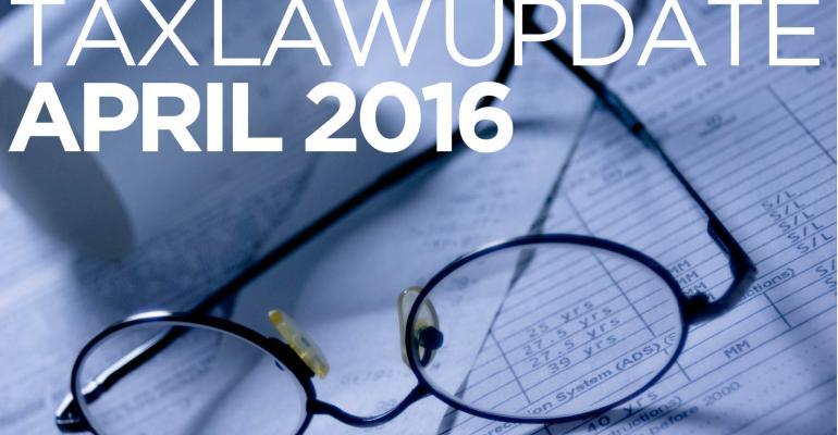 Tax Law Update: April 2016