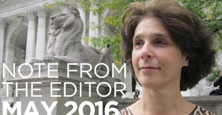Note From The Editor: May 2016