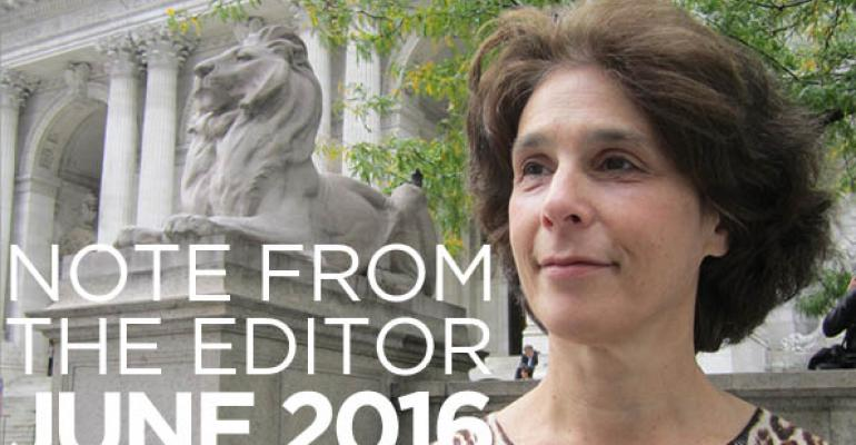 Note From The Editor: June 2016