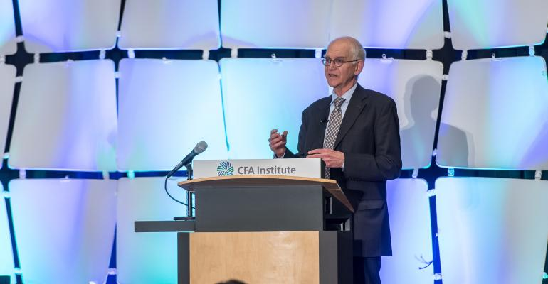 Steve Lydenberg Partner Strategic Vision at Domini Funds at the CFA Institute Conference in Montreal
