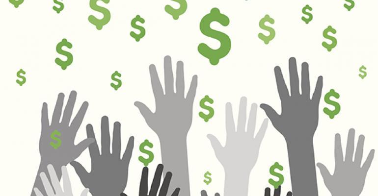 dollar sign hands
