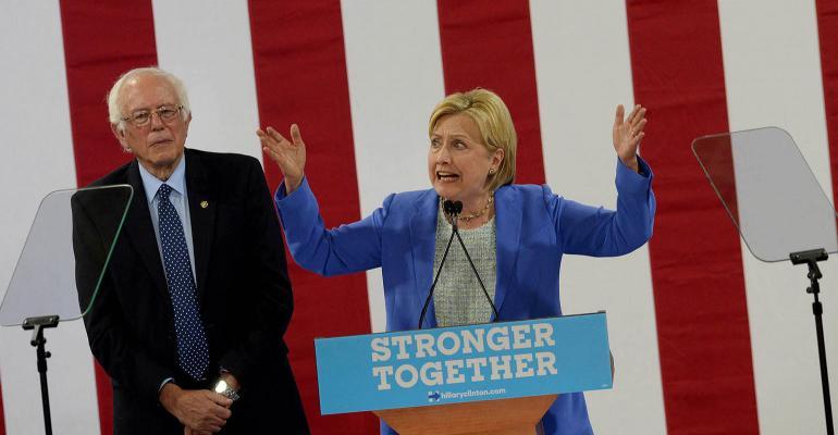 Clinton Aims Party's 'Wall Street' Tax at Flash Boys, Not Banks